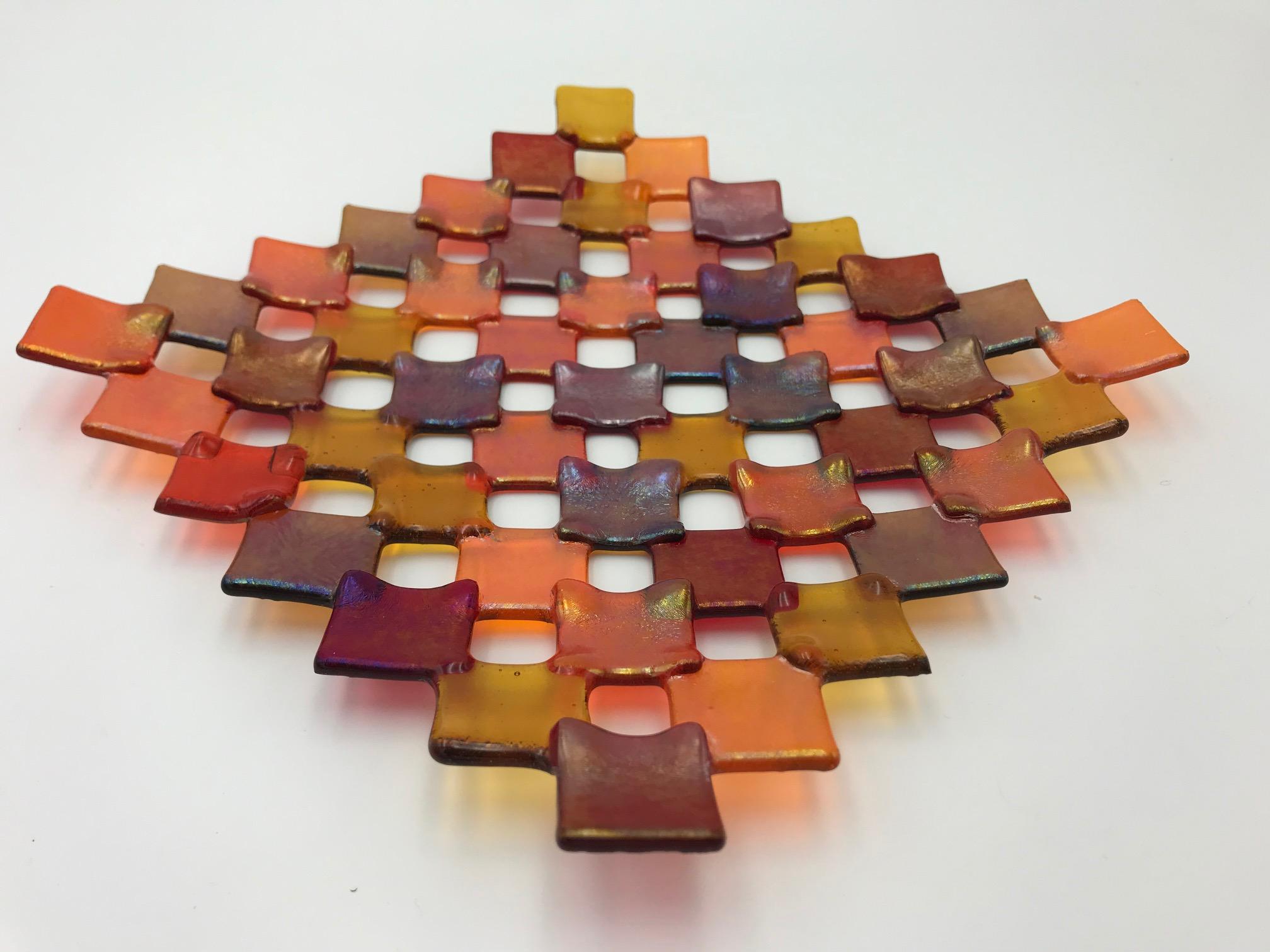 Iridescent Squares Dish!