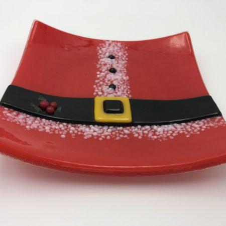 6″ Santa Cookie Plate!